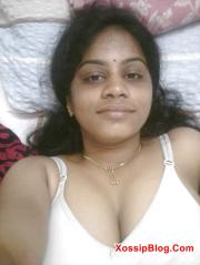 Busty Indian Wife Showing Her Big Boobs and Shaved Pussy