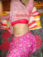 Shy Pakistani Wife in Pink Bra Nude