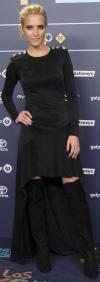 Ana Fernández Vestido Con Botas Altas En La Cena De Nominados De Los Premios 40 Principales 2016 Celebrada En Madrid